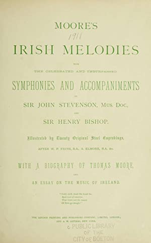 Moore's Irish melodies (Volume: v.2) [Reprint]: Stevenson, John, 1761-1833,Bishop,