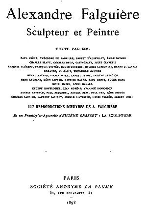 Numéro exceptionnel consacré à Alexandre Falguière, sculpteur