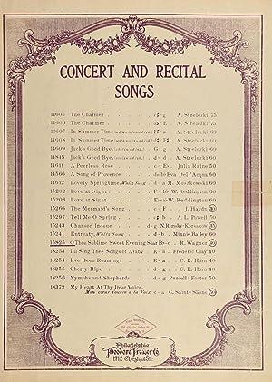 O thou sublime sweet evening star =: Wagner, Richard, 1813-1883