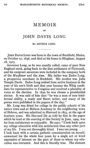 October Meeting, 1919. William R. Livermore; Roger: Lord, Arthur