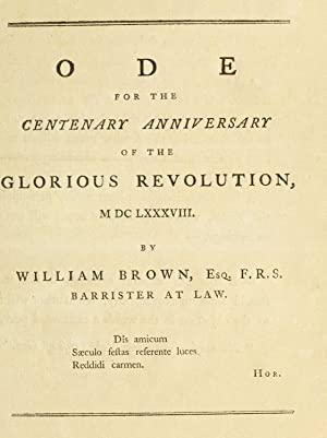 Ode for the centenary anniversary of the: Brown, William, Barrister-at-Law