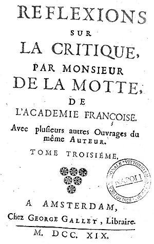 Odes de monsieur de La Motte, de: Antoine : Houdart