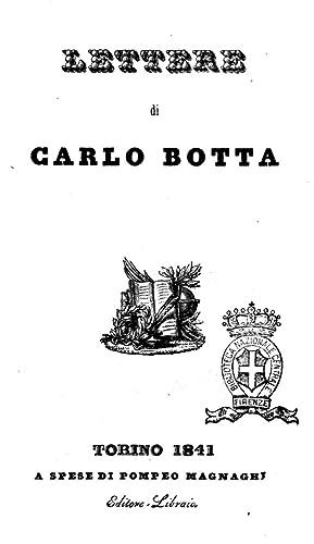 Lettere di Carlo Botta [Reprint] (1841): Botta, Carlo. aut,Viani,