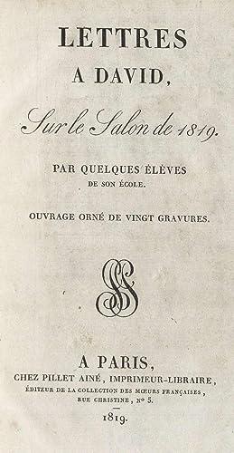 Lettres a David, sur le Salon de: Deve?ria, Achille, 1800-1857,Tardieu,