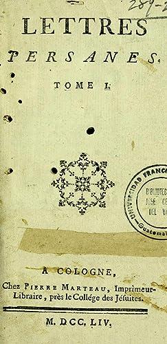 Lettres persanes (1754) (Volume: 1) [Reprint]: Montesquieu, Charles de