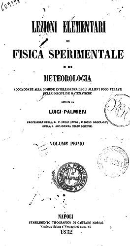 Lezioni elementari di fisica sperimentale e di