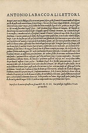 Libro d'Antonio Labacco appartenente a l'architettura nel: Mario Labacco