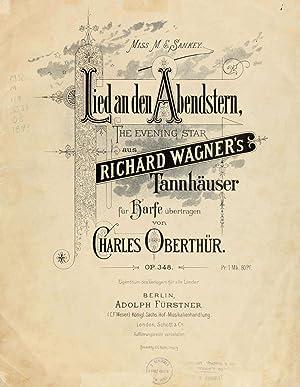 Lied an den Abendstern = The evening: Wagner, Richard, 1813-1883,Oberthür,
