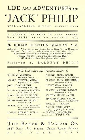"Life and adventures of ""Jack"" Philip, rear-admiral,: Maclay, Edgar Stanton,"