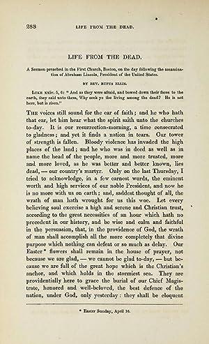 Life from the dead : a sermon: Ellis, Rufus, 1819-1885
