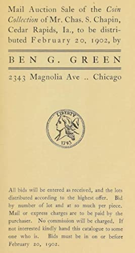 Mail auction sale of the coin collection: Green, Ben G.