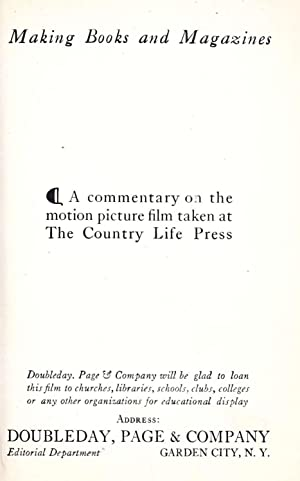 Making books and magazines : a commentary: Morley, Christopher, 1890-1957.