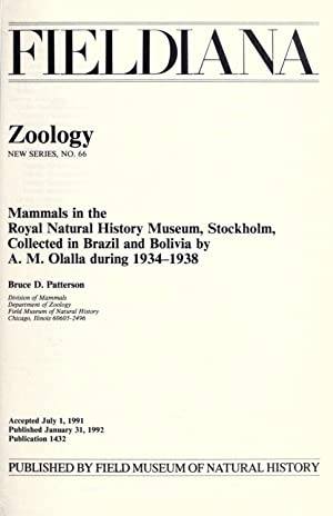 Mammals in the Royal Natural History Museum,: Patterson, Bruce D,Field