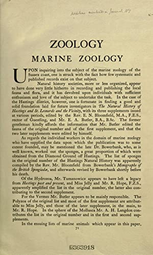 Marine zoology [Reprint]: Rufford, Philip James