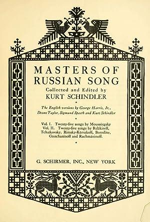 Masters of Russian song (Volume: 2) [Reprint]: Schindler, Kurt, 1882-1935
