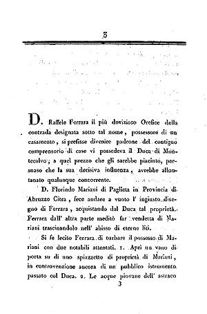 Memoria per d. Florindo Mariani contro d.: Antonio Lionetti