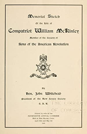 Memorial sketch of the life of compatriot: Whitehead, John, 1819-1905