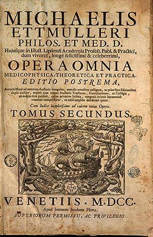 Michaelis Ettmulleri . Opera omnia medicophysica, theoretica: Michael Ettmüller