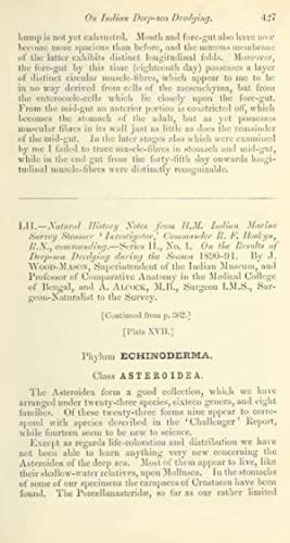 "LII.â€""Natural history notes from H.M. Indian Marine: J Wood-Mason,A Alcock"