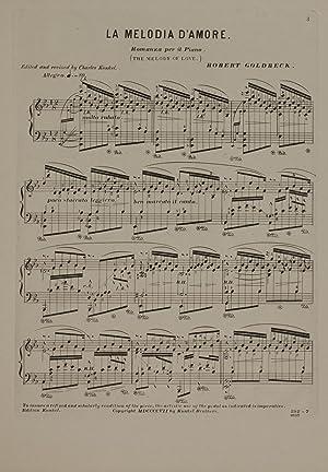 La Melodia d'amore = The melody of: Goldbeck, Robert, 1839-1908,Kunkel,