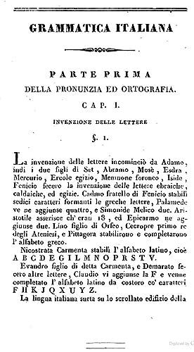 La grammatica della lingua italiana di Francesco: Francesco Saverio Formoso
