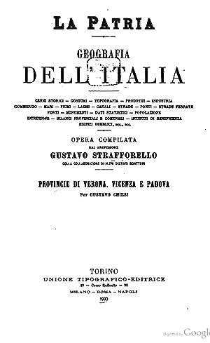 La patria; geografia dell' Italia ., Volume: Gustavo Chiesi, Luigi