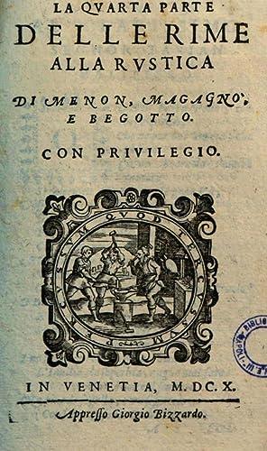La prima quarta parte de le Rime: Giovanni Battista Maganza