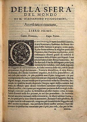 La sfera del mondo di m. Alessandro: Alessandro Piccolomini