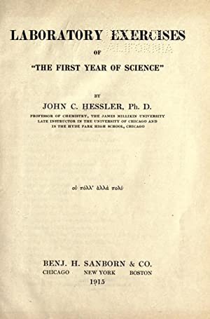 """Laboratory exercises of """"The first year of: Hessler, John C."""