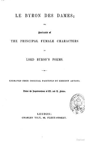 Le Byron Des Dames Or Portraits of