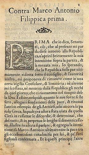 Le Filippiche di Marco T. Cicerone contra: Marcus Tullius Cicero