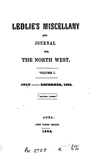 Ledlie's miscellany and journal for the North