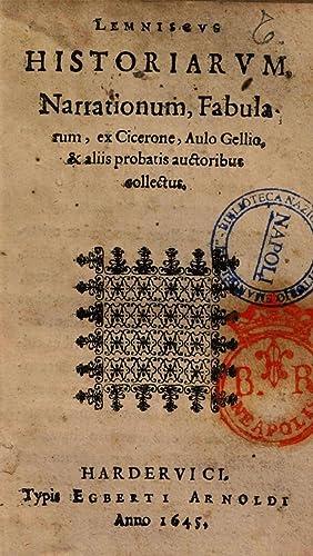 Lemniscus historiarum narrationum fabularum, ex Cicerone, Aulo