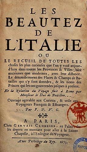 Les beautez de l'Italie ou le recueil: Pierre Du Val