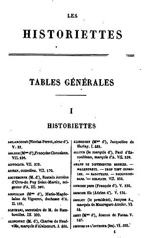 Les historiettes de Tallemant des RÃ aux: Tallemant Des RÃ