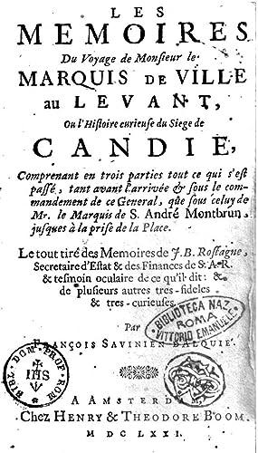 Les memoires du voyage de monsieur le: François Savinien :