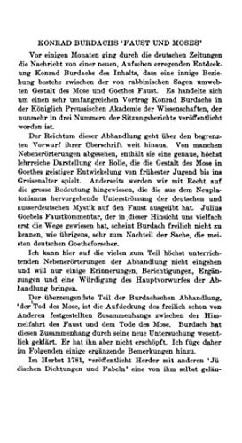 Konrad Rurdachs 'Faust und Moses' (1913) (Volume: Jacoby, Günther