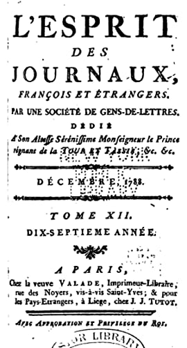 L'Esprit des journaux, françois et étrangers, Issue: Société de gens