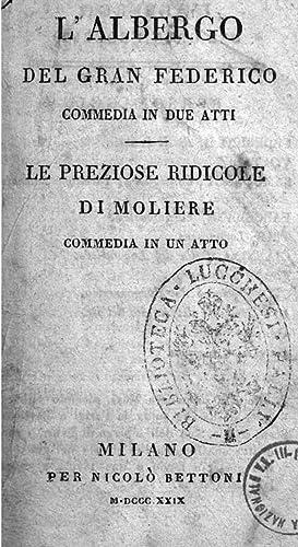 L'albergo del gran Federico : commedia in: Molie?re. aut