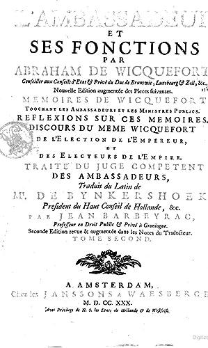L'ambassadeur et ses fonctions par Abraham de