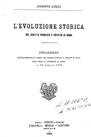 L'evoluzione storica nel diritto pubblico e privato: Carle, Giuseppe