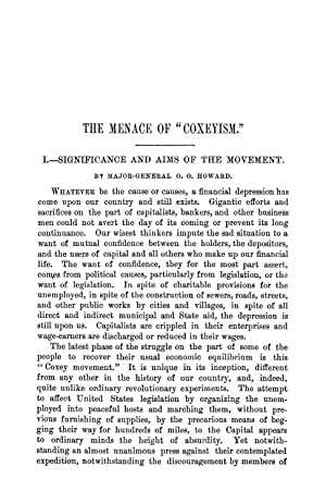 """The Menace of """"Coxeyism"""" (1894) (Volume: 158): Doty, Alvah H."""