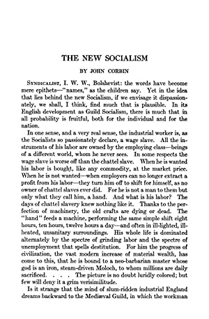 The New Socialism (1921) (Volume: 213) [Reprint]: Corbin, John