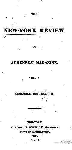 New-York Review, Atheneum Magazine - AbeBooks
