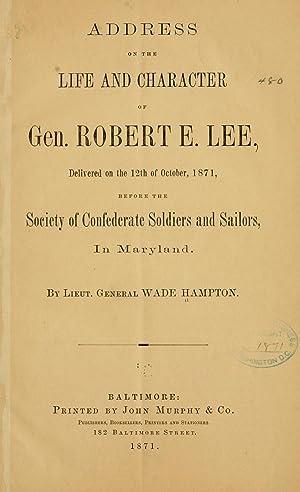 Address on the life and character of: Hampton, Wade, 1818-1902,YA