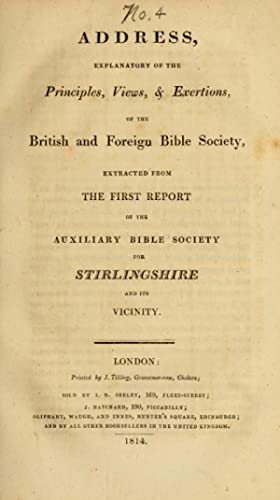 Address, explanatory of the principles, views, &: Auxiliary Bible Society