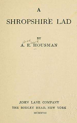 A shropshire lad [Reprint] (1917): Housman, A. E.