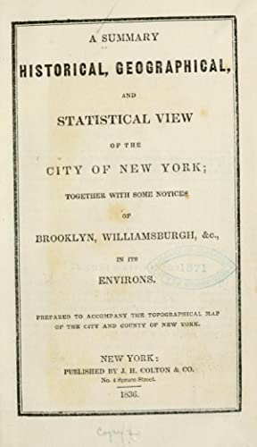 A summary historical, geographical, and statistical view