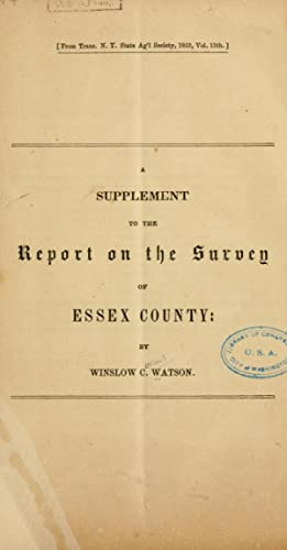 A supplement to the Report on the: Watson, Winslow C.
