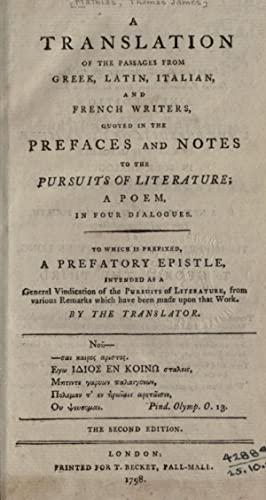 A translation of the passages from Greek,: Mathias, Thomas James,